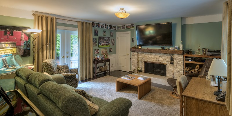 Bedford Man Cave Media Room Renovation Victoria BC